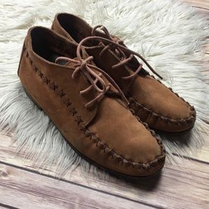 Dimanche | Leather Suede Lace Up Boho Moccasins